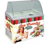 Conservateur de crème glacée 170 litres - vintage - 12°/-26°c