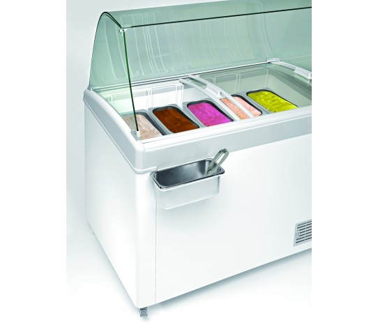 Conservateur de crème glacée 400 litres laque blanc - 12°/-26°c